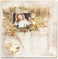 """Hi there lovelies, thanks for calling by. Today I have another layout to share with you which I created using a paper from the 49 and Market """"Vintage Artis"""