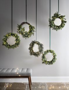 Light up Christmas wreaths are all the rage this festive season, hang them on your front door r in the hallway to welcome guests in style. (Photo: Lights4Fun - buy now: http://fave.co/2gkQCtg)