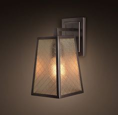 Modern Filament Sconce With Wire Glass