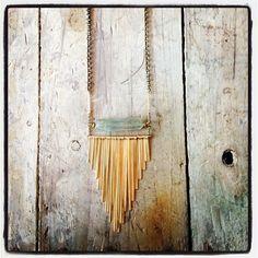 Kyanite necklace (just got--super gorgeous)