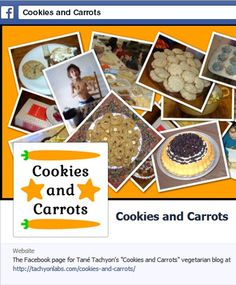 """A blog post about how you can now follow my """"Cookies and Carrots"""" vegetarian blog on Facebook."""