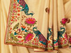 Beautiful Embroidered #Saree by Banaras http://www.ekaya.in/ ~  My mother would love this!!!! #peacockpassion