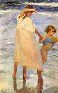 Paintings Reproductions Sorolla y Bastida, Joaquin The Two Sisters, 1909