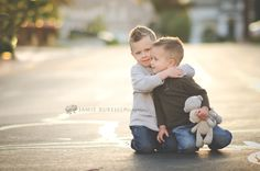 when youre trying to strangle your brother but it looks like youre hugging him. Kid Photos, Sibling Photos, Baby Boy Photos, Sibling Photography, Children Photography, Photography Ideas, Portrait Photography, Big Kids, Little Boys