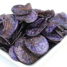 Purple Potato Chips - Chips are easy to make and have great flavor.