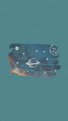 Blue Wallpaper Iphone, Scenery Wallpaper, Kawaii Wallpaper, Blue Wallpapers, Pastel Wallpaper, Cute Wallpaper Backgrounds, Cute Cartoon Wallpapers, Aesthetic Iphone Wallpaper, Galaxy Wallpaper