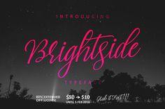 Brightside Typeface by QueenType on Creative Market