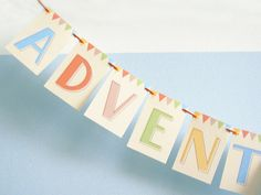 Adventure Awaits MINI Paper Garland Party Banner great for home or office. $10.00, via Etsy.