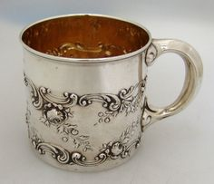Gorham Sterling Silver Baby Cup 1897