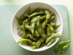 Spiced Edamame : Toss tender, cooked edamame pods in a homemade chili salt made using chili powder, red pepper flakes and dried oregano. The spicy blend complements the beans' mildly sweet flavor.
