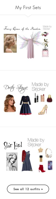 """""""My First Sets"""" by norse-goddess ❤ liked on Polyvore featuring Adrianna Papell, Rock 'N Rose, Christian Dior, shakespeare, Christian Louboutin, Chicwish, Kenneth Jay Lane, LULUS, Eyeko and Charlotte Tilbury"""