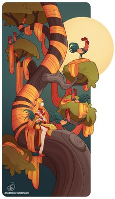 Tree Lady - Year of the Fire Rooster A print of this picture is available on my online print shop. :)