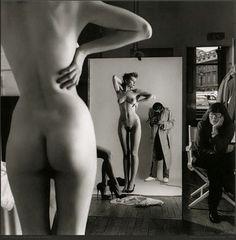 Photographer: Helmut Newton, Publication: Unknown, Date: Unknown, Model/s: Unknown, Designer/s: Unknown.