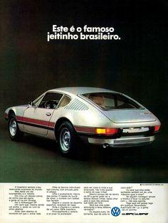 Anúncio Volkswagen  SP 1 e SP 2 - 1972