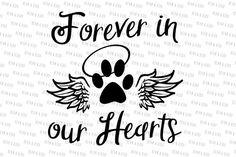 Forever in our Hearts - Memory Tattoo Ideas Tribal Tattoos, Tattoos Skull, Dog Tattoos, Dog Memorial Tattoos, Pet Memorial Stones, Pet Remembrance, Pet Loss, Rainbow Bridge, Pet Memorials