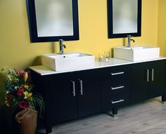 modern black bathroom cabinet