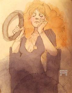 Morgan Rogers (silveraspensart) ~ Stevie Nicks Awake My Soul, Stevie Nicks Fleetwood Mac, Women In Music, Fairy Godmother, Her Music, Picture Show, Artsy Fartsy, Art Images, Rock N Roll