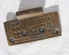 Vintage Door Hinge Arts & Crafts Ornate Salvaged Door Hardware Victorian hardware Ornate Hardware
