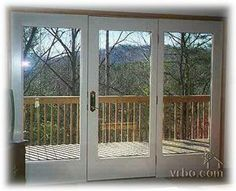 Patio door inspiration on pinterest french doors for Triple french doors exterior