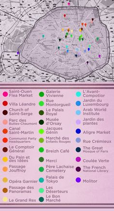 And, here is the map with all the places mentioned in the post : | The Ultimate Parisian Guide To Paris