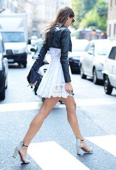 "hrisinikolova: ""Hr.Nikolova : FASHION is my life! "" I ❤️ her cute mini dress and high heels, she has beautiful legs"
