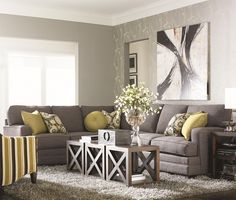 Bassett Custom Upholstery - Estate <b>Customizable</b> 2 pc. Sectional with Track Arms - Hudson's Furniture - Sofa Sectional Tampa, St Petersburg, Orlando, Ormond Beach