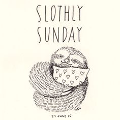(Diary-Picture 27/365)  Sunday is a very lazy day ... so my Sunday is SLOTHLY SUNDAY! © illustration by www.nontirakigle.de