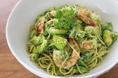 Shrimp and Avocado Pasta - I used zucchini noodles and it was fantastic!