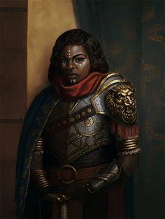 rpg settings, fyblackwomenart:   Warrior Queen by sicosa