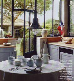 Conservatory style kitchen