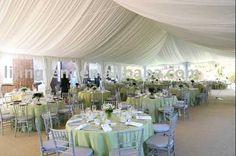 Tält med vackert tak