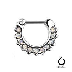 Septum clicker con mini cristales