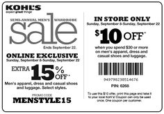 Free printable clothing coupons