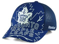 Toronto Maple Leafs Reebok NHL Outlined Logo Structured Flex Cap