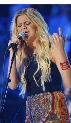 Kelsea Ballerini performing at the CMT Music Awards in Nashville