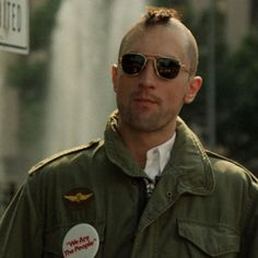 How to make your own homemade DIY Travis Bickle Costume from the movie Taxi Driver. Like Robert DeNiro for halloween, cosplay or fancy dress costume Color In Film, World Movies, Cartoon Tv Shows, Hooray For Hollywood, Military Style Jackets, Martin Scorsese, Taxi Driver, Iconic Characters, Movie Costumes