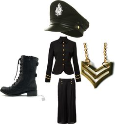 """soilder"" by dayday1andonly ❤ liked on Polyvore"