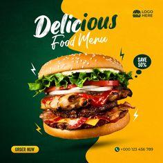 Pizza Menu Design, Food Menu Design, Food Poster Design, Food Graphic Design, Food Banner, Food Branding, Food Advertising, Social Media Design, Food Photography
