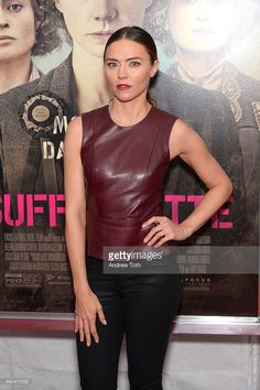 """Actress Trieste Kelly Dunn attends the """"Suffragette"""" New York premiere at Paris Theatre on October 2015 in New York City. Female Fighter, Suffragette, Trieste, Zendaya, White Girls, Famous People, New York, Celebs, Actresses"""