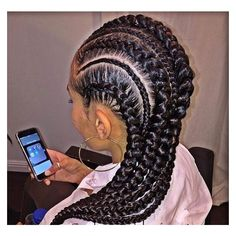 31 Stylish Ways To Rock Cornrows Stayglam Big Cornrow Hairstyles With Weave Big Cornrow Hairstyles With Weave - Hairstyles Website Number ONE in the World Cornrows Braids For Black Women, Black Girl Braids, African Braids Hairstyles, Braids For Black Hair, Girls Braids, Braided Hairstyles, Hairstyles 2018, Kid Braids, Hairstyles Pictures