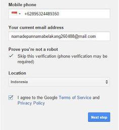 Cara Membuat Email di Gmail - Cara membuat email ini bisa diterapkan pada HP maupun PC, karena pada Langkah Langkah Membuat Email di Gmail Beserta Gambarnya ini saya buat menggunakan browser, jadi terserah sobat mau mengikuti menggunakan browser hp / pc, tidak ada bedanya.