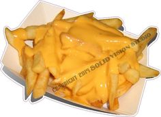 "11"" Cheese Fries French Fry Tray Concession Trailer Food Truck Vinyl Sign Decal #SolidVisionStudio"