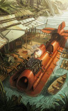 Razorboat by PierreDroal.deviantart.com on @DeviantArt