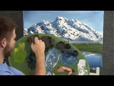 Creating an oil painting with a realistic reflection of the mountain in the lake....by Kevin Hill