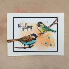 Memory Box Bird Sanctuary Card using their new stamps and dies. Available at Simple Pleasures Rubber Stamps and Scrapbooking, Colorado Springs, CO.