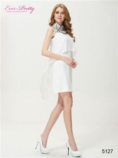 Ever Pretty Studded High Collar Short New Years Eve Cocktail Party Dress - Ever-Pretty US