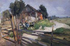 Konstantin Korovin (Russian 1861–1939) [Impressionism, Art Nouveau] Landscape…