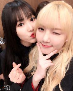 GFRIEND - Yuju 유주 (Choi Yuna 최유나) & Jung YeRin 정예린 #여자친구 #쮸우 #하트