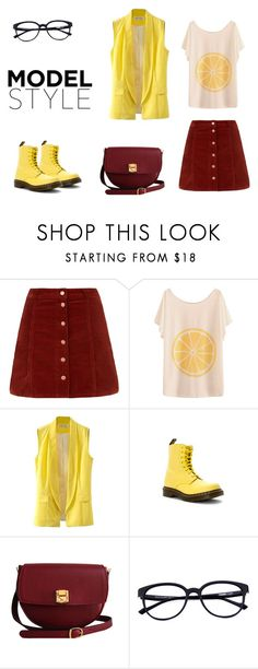 """""""Untitled #243"""" by adancetovic on Polyvore featuring Dr. Martens and The Code"""