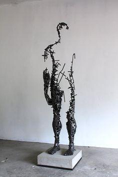 Metal Art Sculpture, Steel Sculpture, Contemporary Sculpture, Abstract Sculpture, Welding Art Projects, Metal Art Projects, Art En Acier, Sculptures Sur Fil, Steel Art